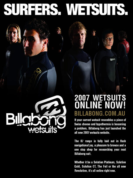 Billabong wetsuits 2007