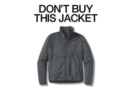 Patagonia Says Don't Buy Our Stuff