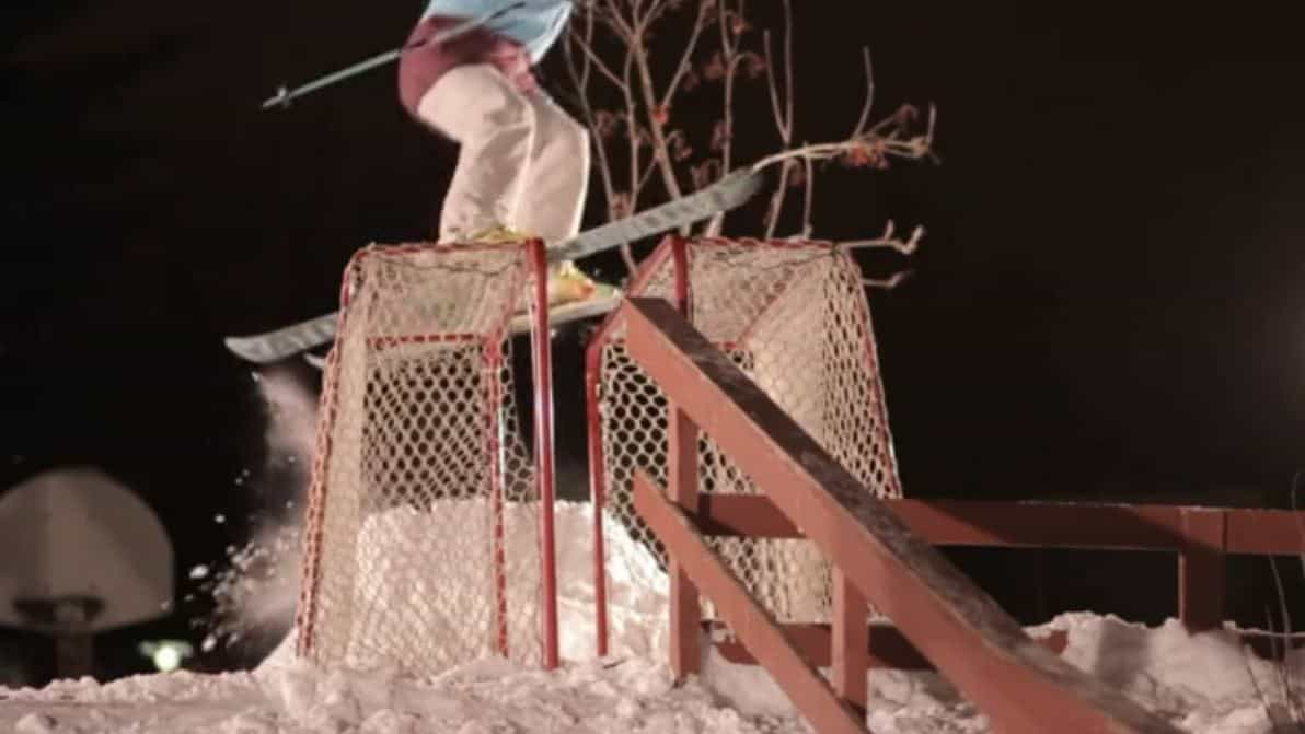 Kicker to hockey goals to rail jib