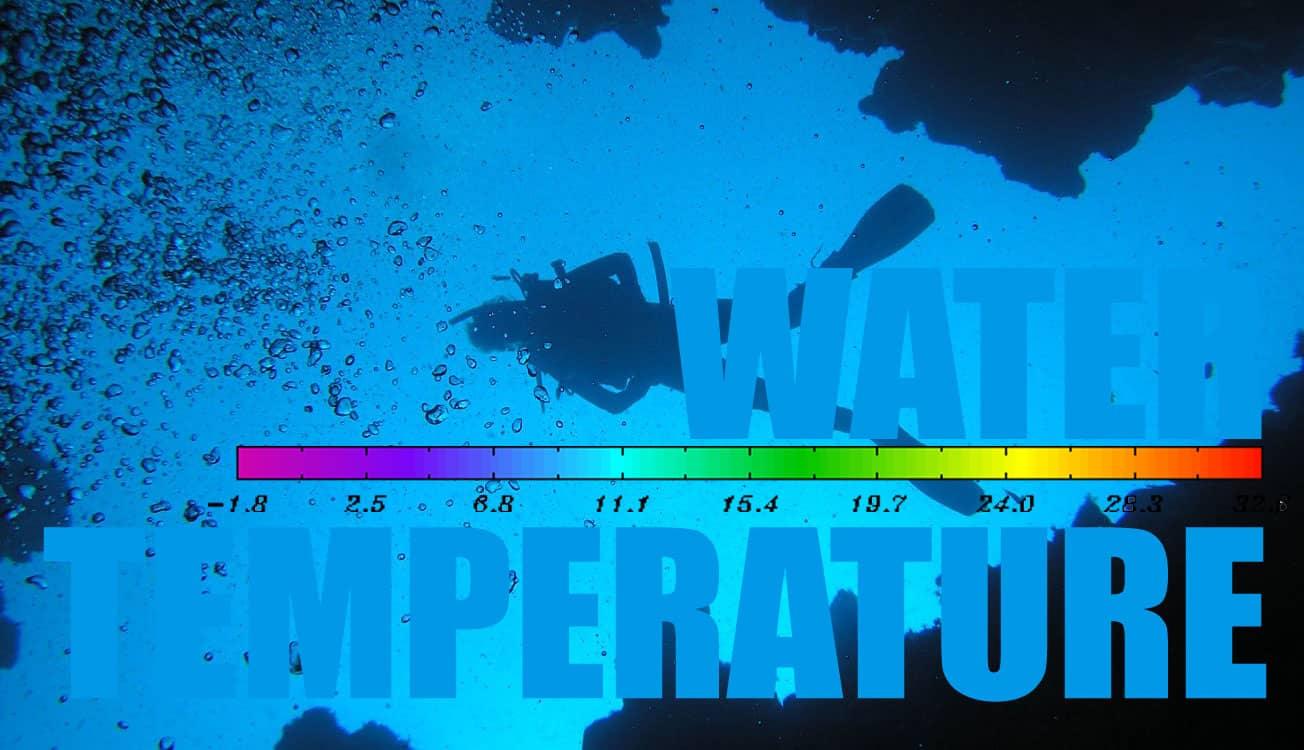 Diving water temperature guide