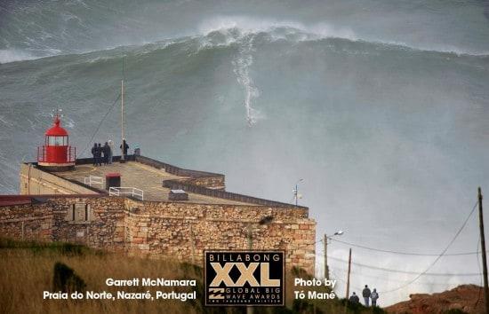Garrett McNamara at Praia do Norte, Nazaré, Portugal