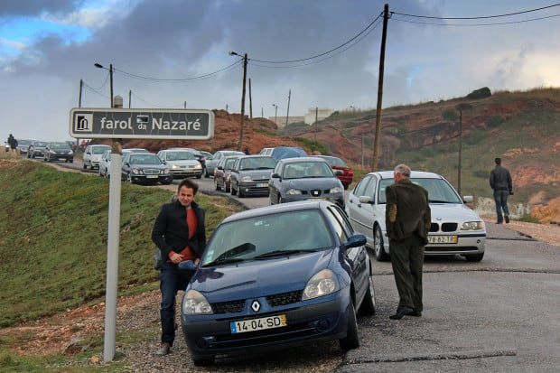 Traffic in Nazare