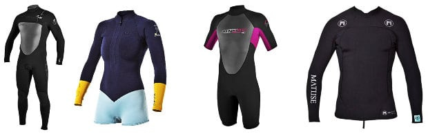different-wetsuit-types