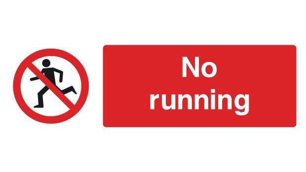 no-running-sign