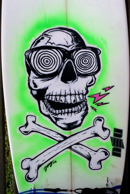 Skull & 77 Surfboard Designs and Art Ideas - 360Guide