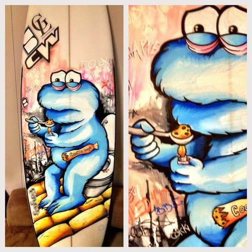 Cookie monster is an addict