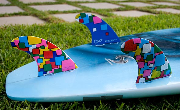 You can paint on fins