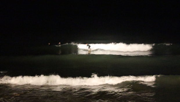 night surfing under the lights
