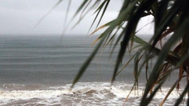 waves in rain
