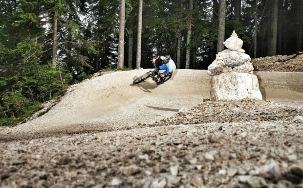 MTB rider in the berm