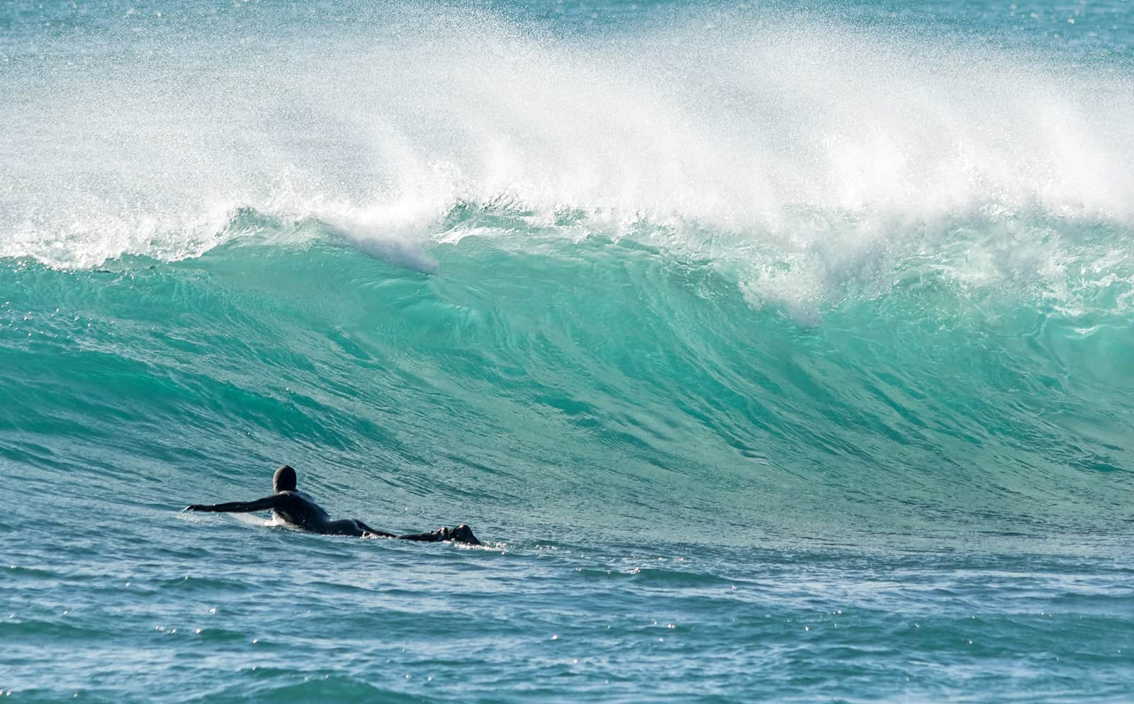 Thats me paddling out after a wave. The wave is ultra sketchy, not a lot of room for error. The
