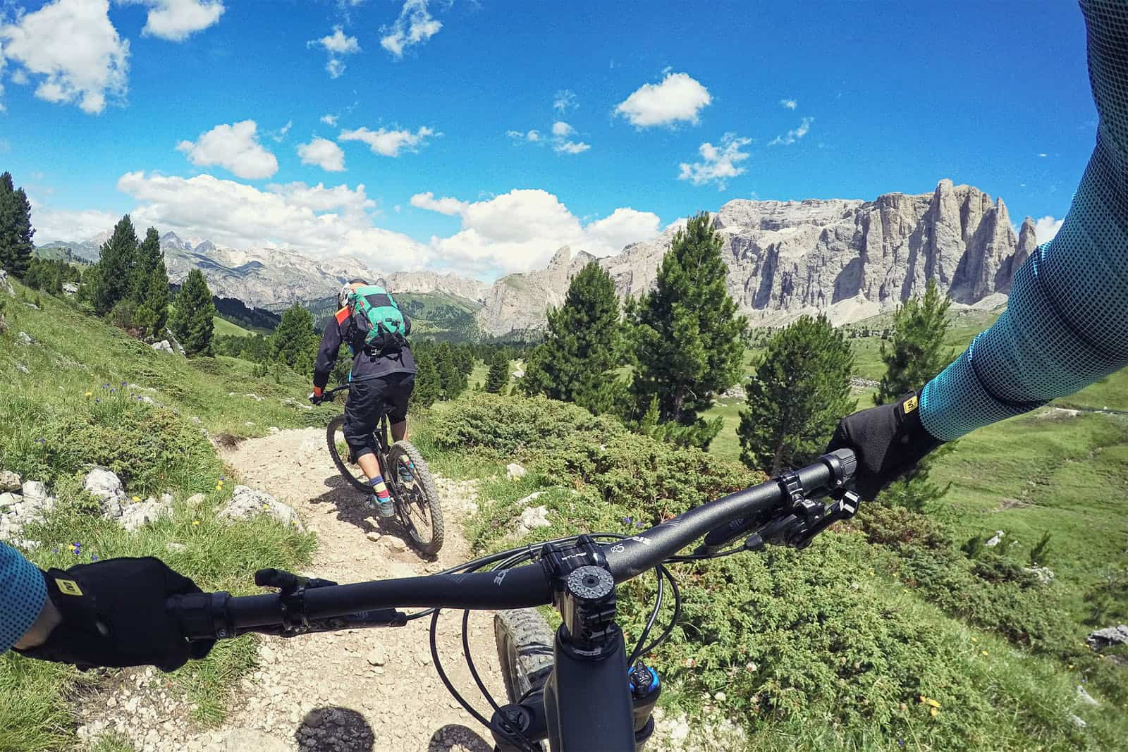 Best trails are from Gardena pass towards Corvara.