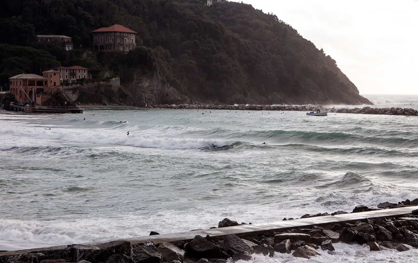 Levanto bay on the 2nd of January, 2017