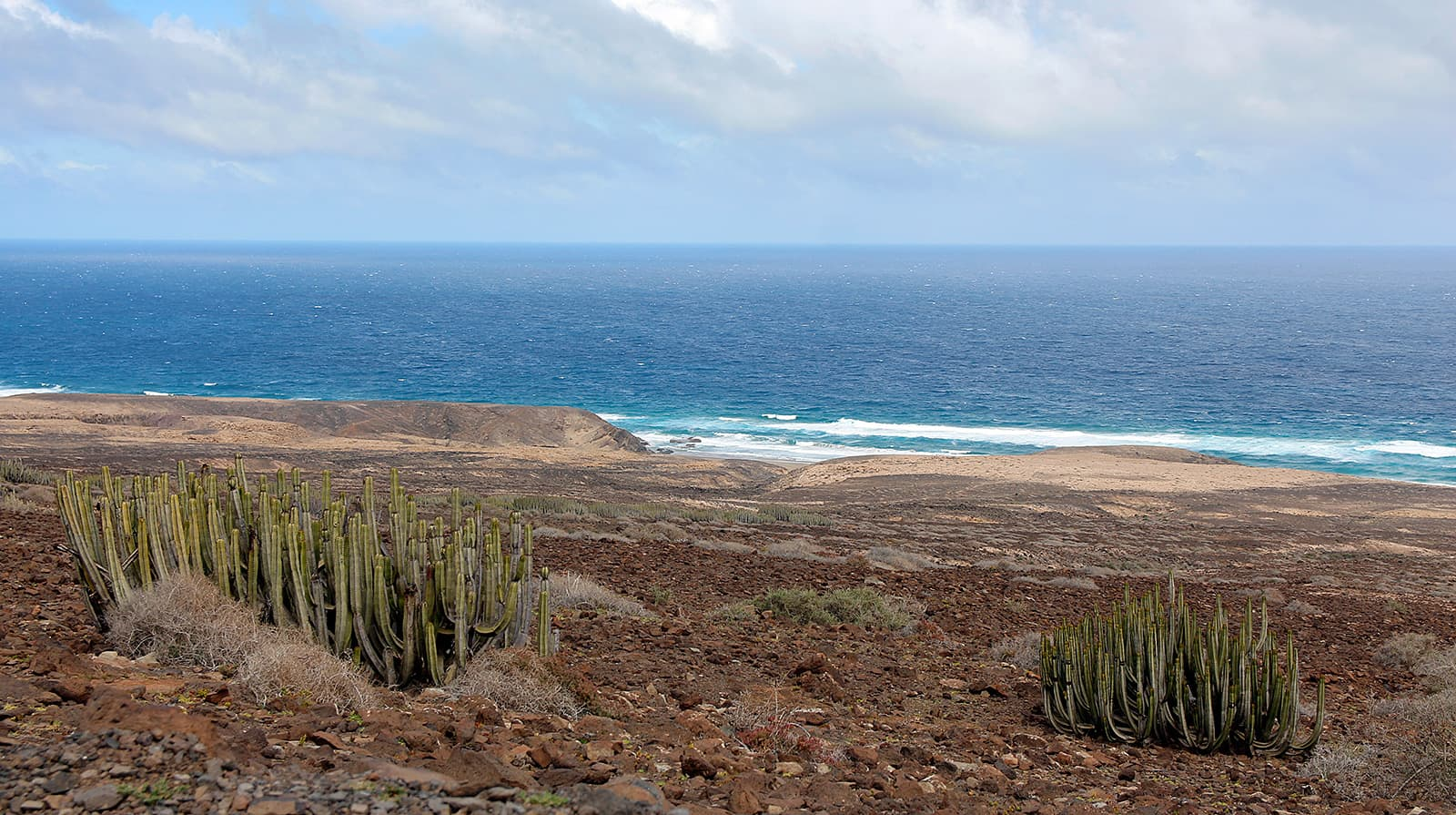 Driving to the south tip of Fuerteventura and then turning right will bring you to Cofete. Apart from a nice view from the pass above Cofete, the beach is pretty boring.