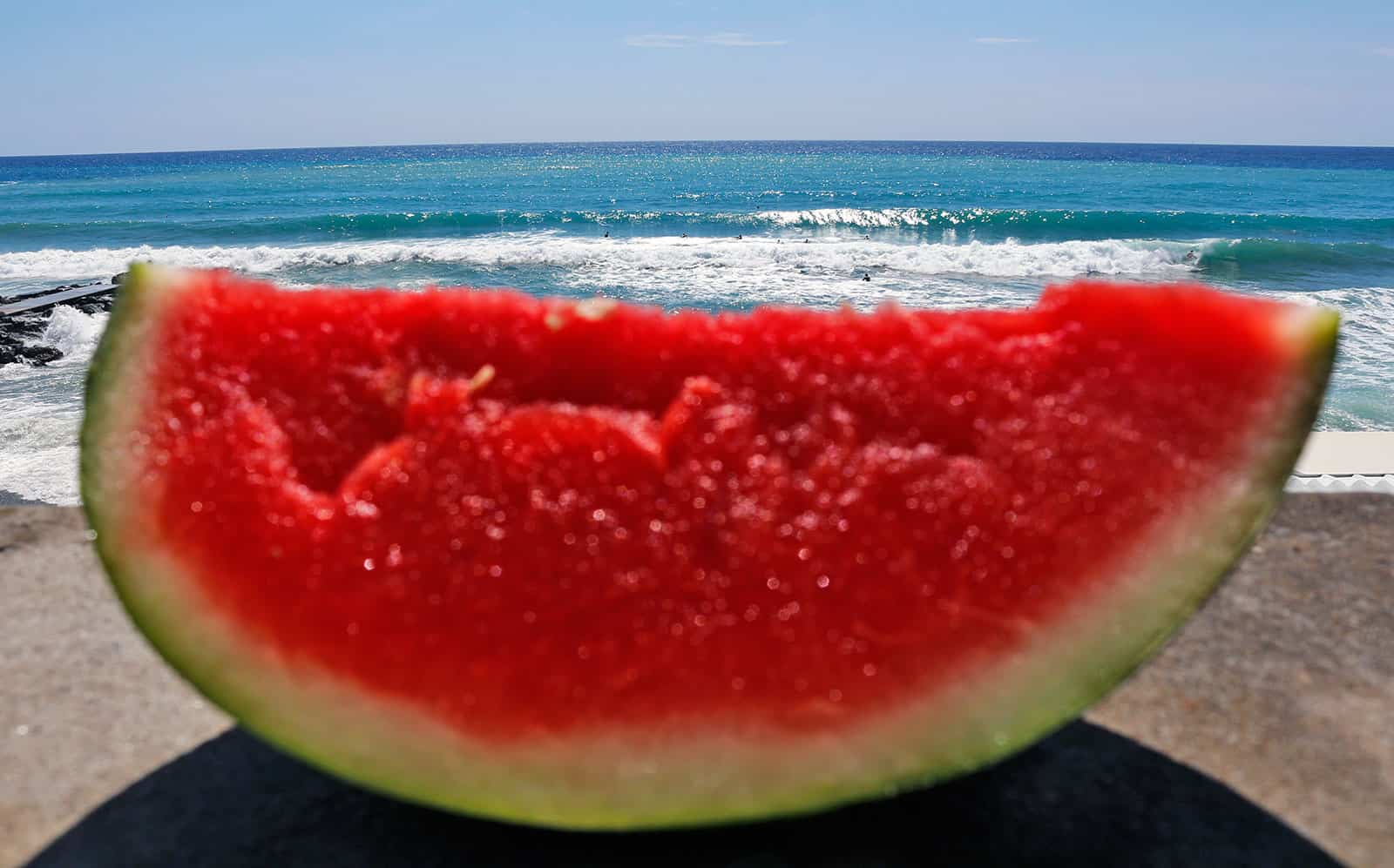 Waves and watermelons.