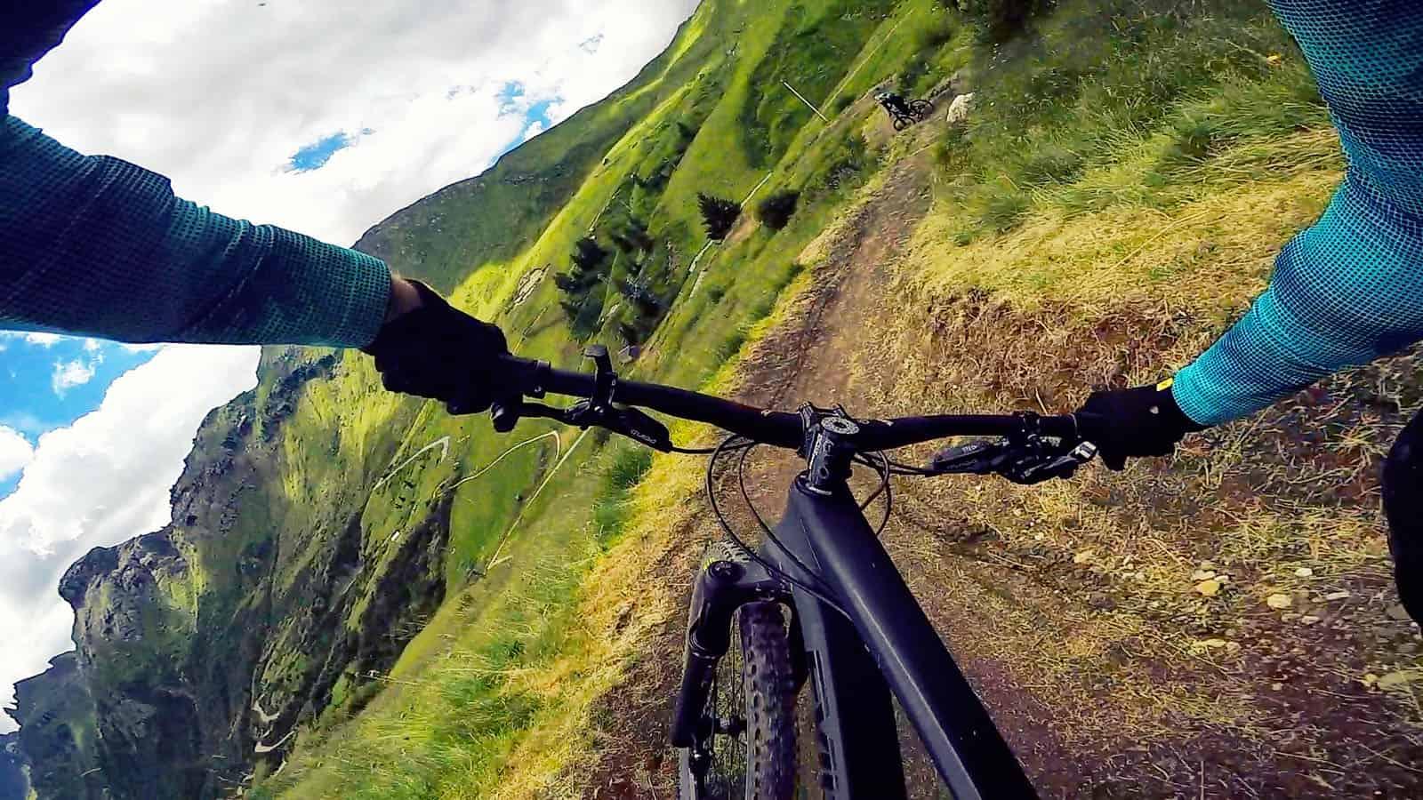 Trail from Pordoi Pass towards Arabba