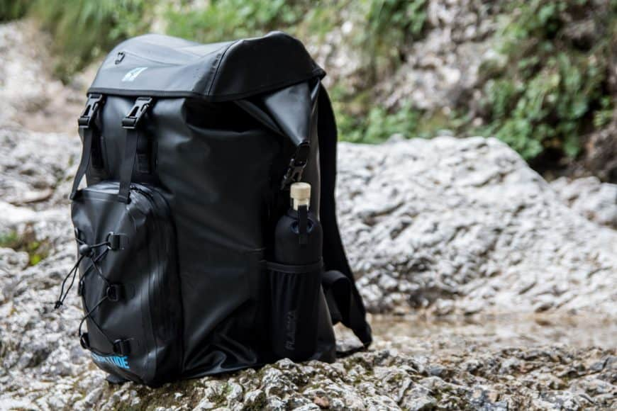 dfc471c88549 DryTide Waterproof Backpack. by K. We tested the backpack on the lake