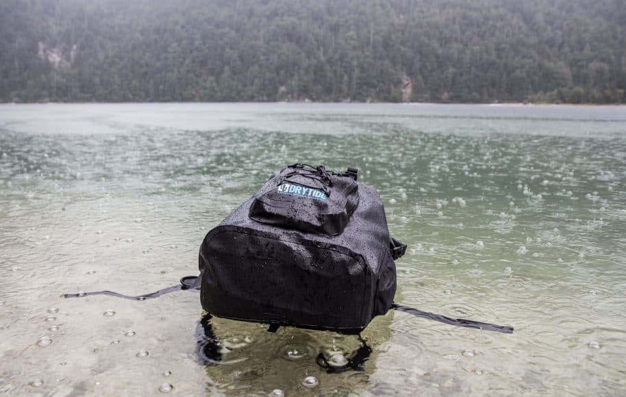 ebc2057857b5 DryTide backpack is a backpack that you can literally throw into the water  and all your